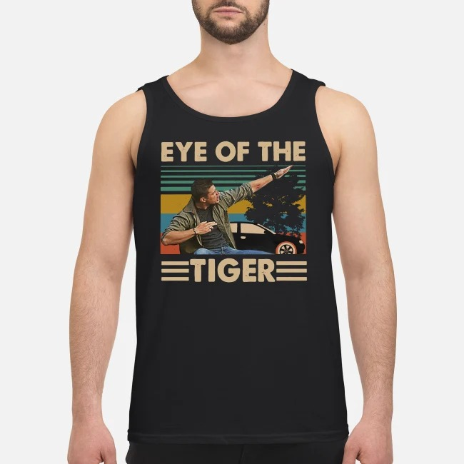 Vintage Supernatural Dean Winchester Eye of the tiger Tank top