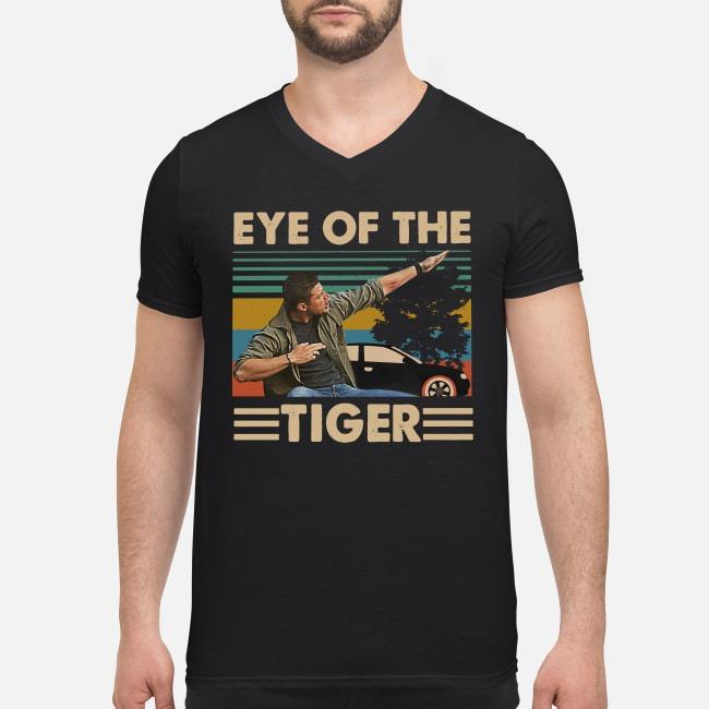 Vintage Supernatural Dean Winchester Eye of the tiger V-neck T-shirt