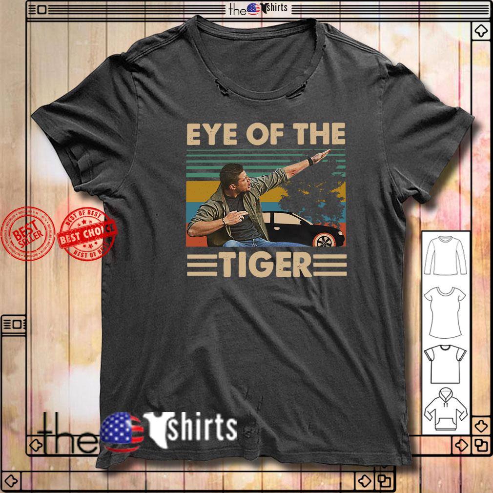 Vintage Supernatural Dean Winchester Eye of the tiger shirt