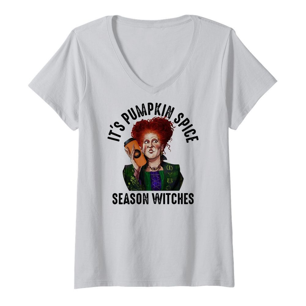 Winifred Sanderson It's pumpkin spice season witches V-neck T-shirt