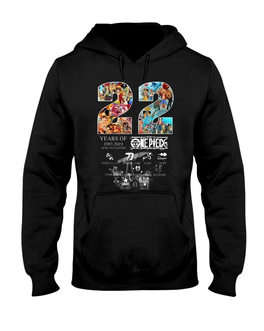 22 Years of One Piece 1997-2019 more 950 chapters signatures Hoodie