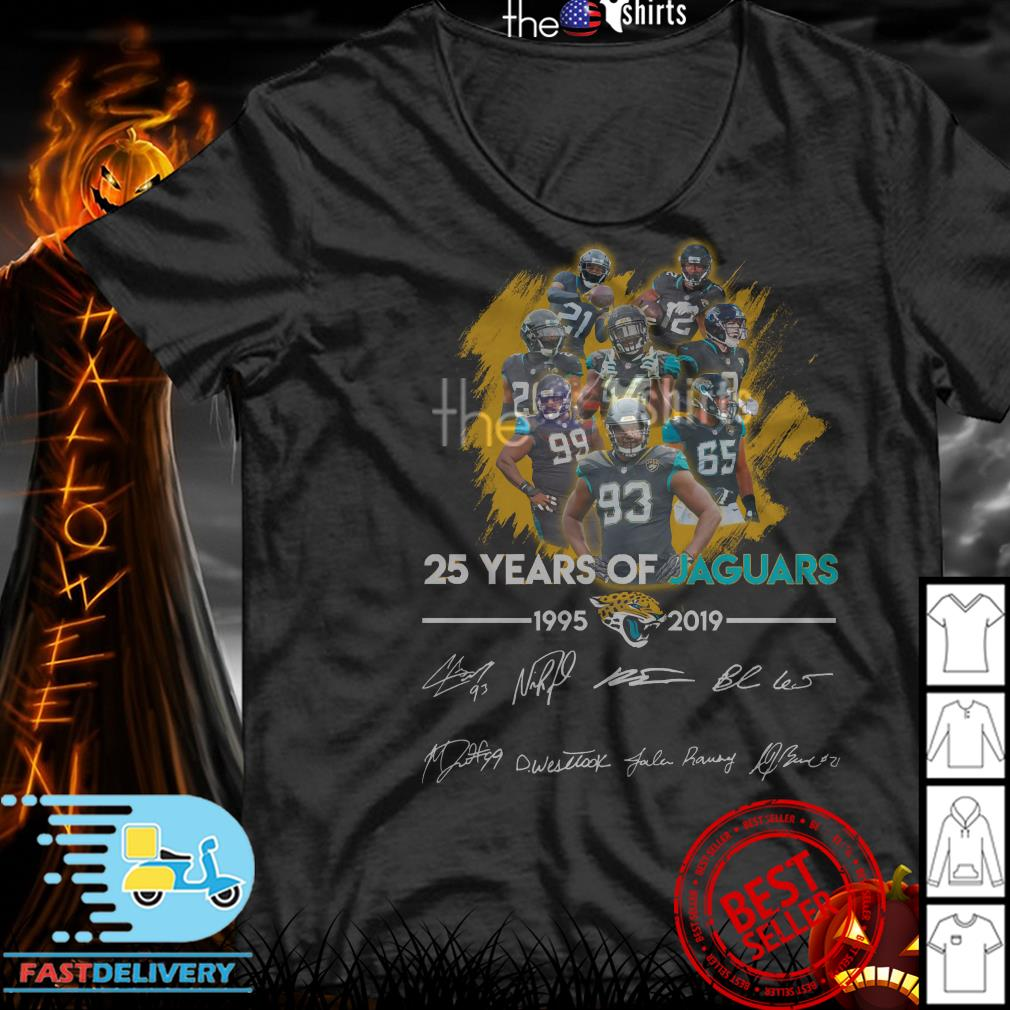 25 Years of Jacksonville Jaguars 1995-2019 signatures shirt