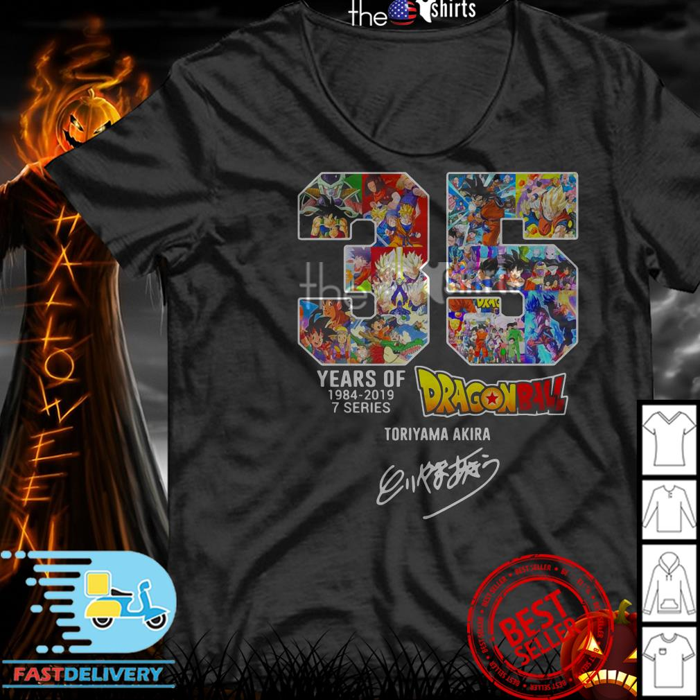 35 Years of Dragon Ball Z 1984-2019 Toriyama Akira signature shirt