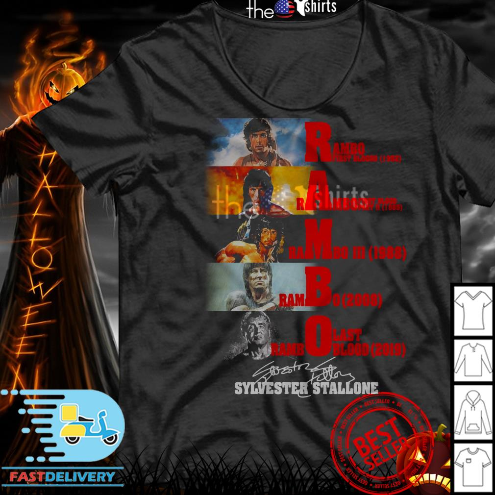 Sylvester Stallone Rambo first blood 1982 Rambo first blood part II 1985 shirt
