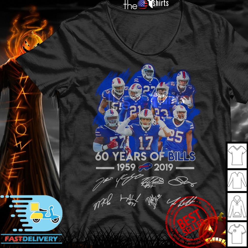 60 Years of Bills 1959-2019 signatures shirt
