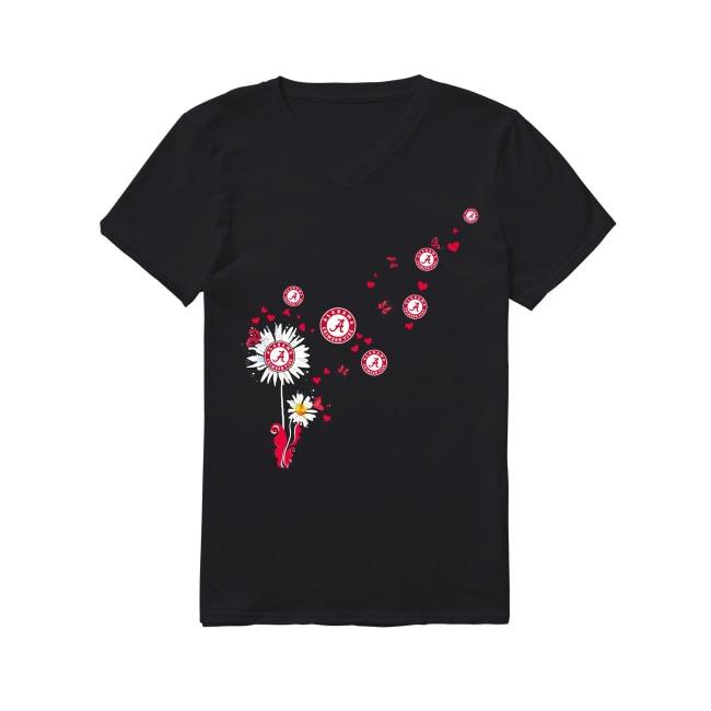 Alabama Crimson Tide dandelion flower V-neck T-shirt