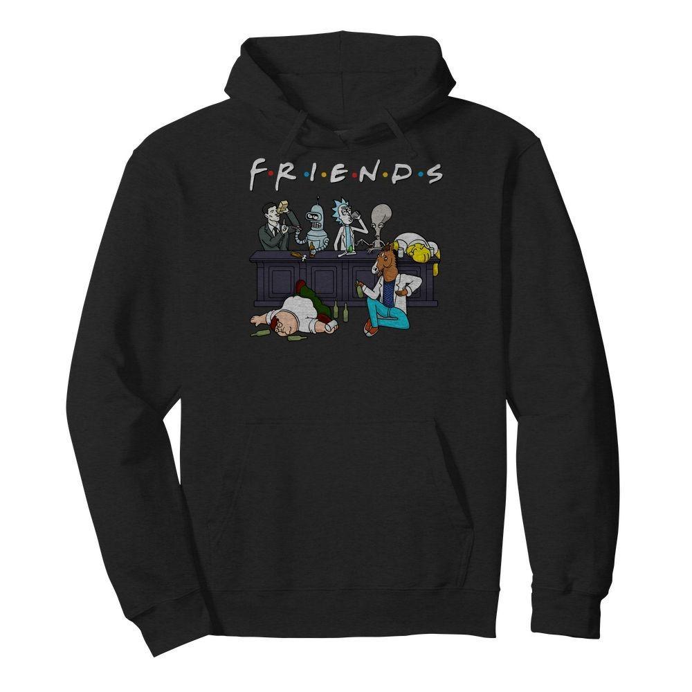 Bender Homer Simpson Rick Bojack Horseman Friends Hoodie