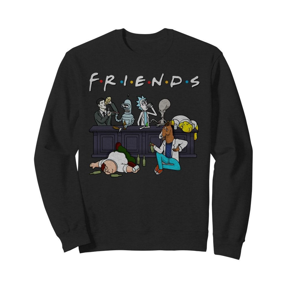Bender Homer Simpson Rick Bojack Horseman Friends Sweater