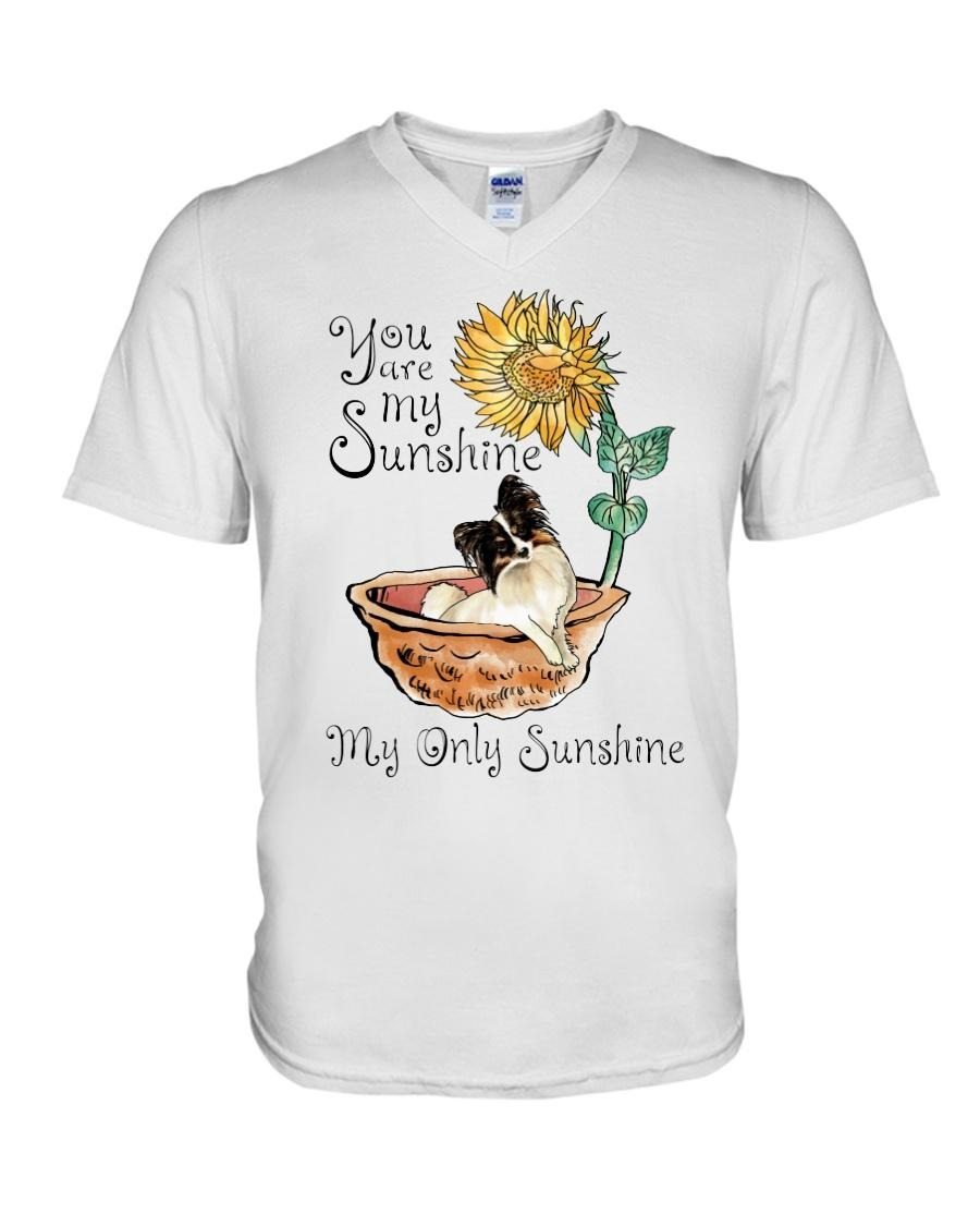 Chihuahua and sunflower you are my sunshine my only sunshine V-neck T-shirt