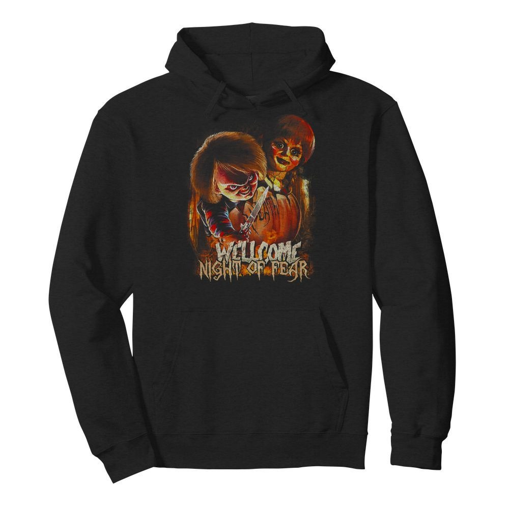 Chucky and Annabelle welcome night of fear Hoodie