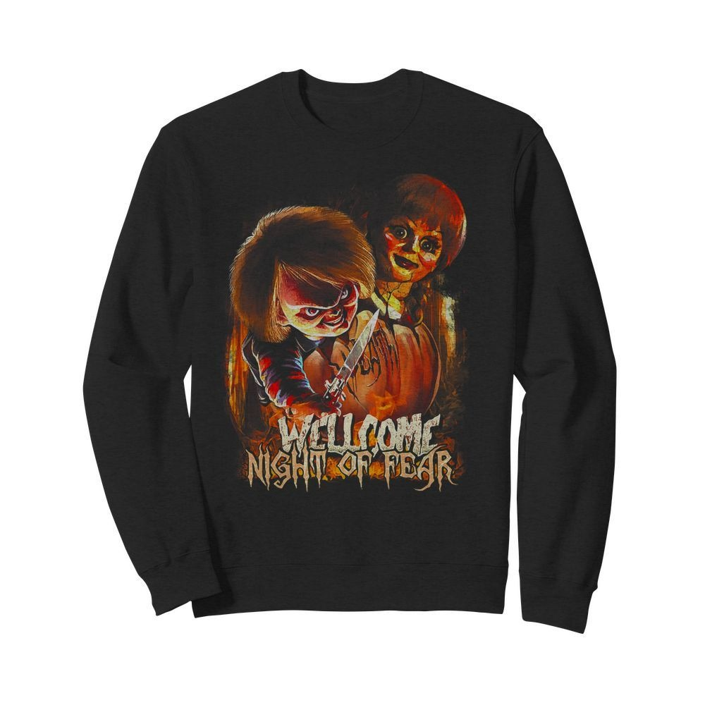 Chucky and Annabelle welcome night of fear Sweater