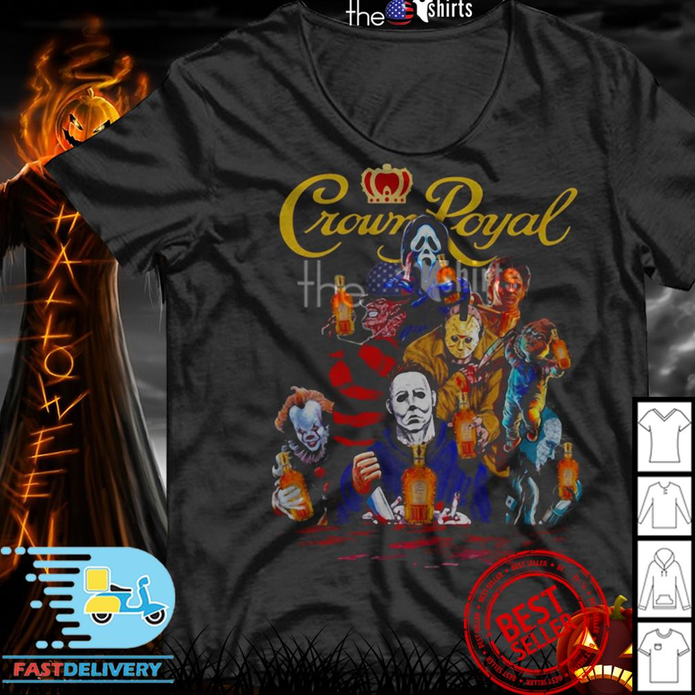 Crown Royal horror characters movie shirt