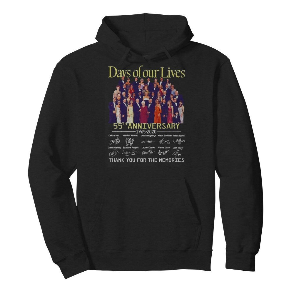 Day of our lives 55th Anniversary 1965-2020 signatures Hoodie