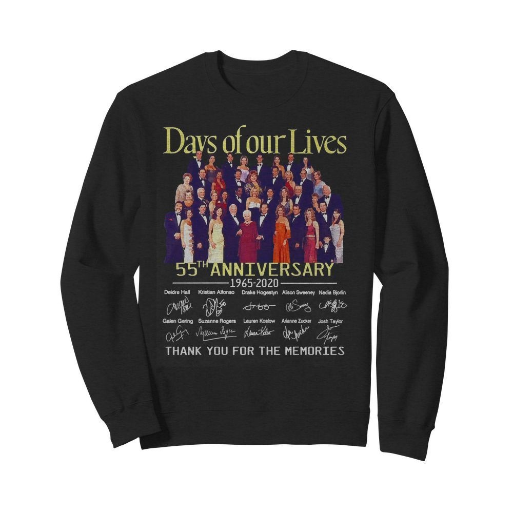 Day of our lives 55th Anniversary 1965-2020 signatures Sweater