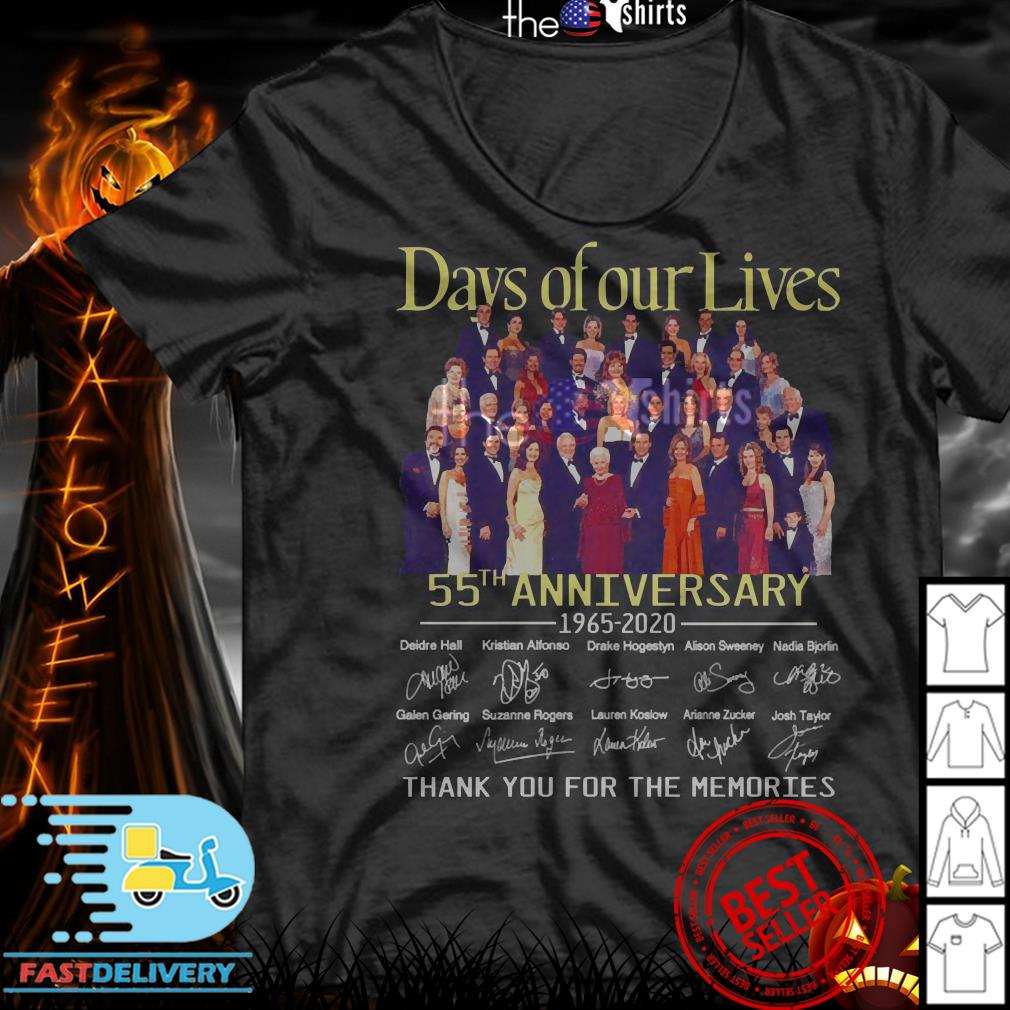 Day of our lives 55th Anniversary 1965-2020 signatures shirt