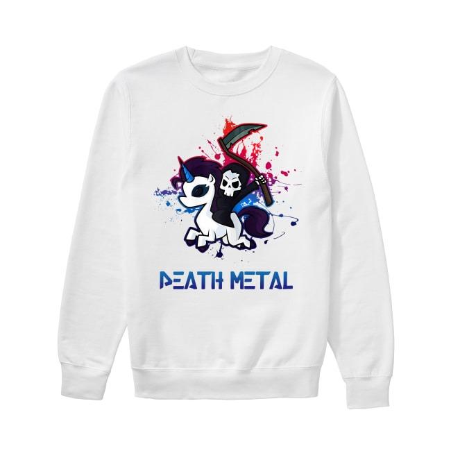 Devil riding Unicorn Death Metal Rocker go to hell Sweater