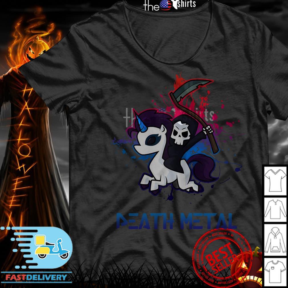 Devil riding Unicorn Death Metal Rocker go to hell shirt
