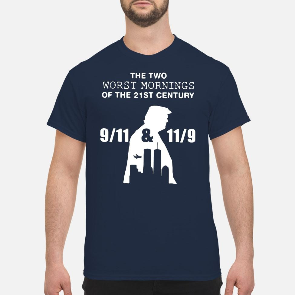 Donald Trump the two worst mornings of the 21st century shirt