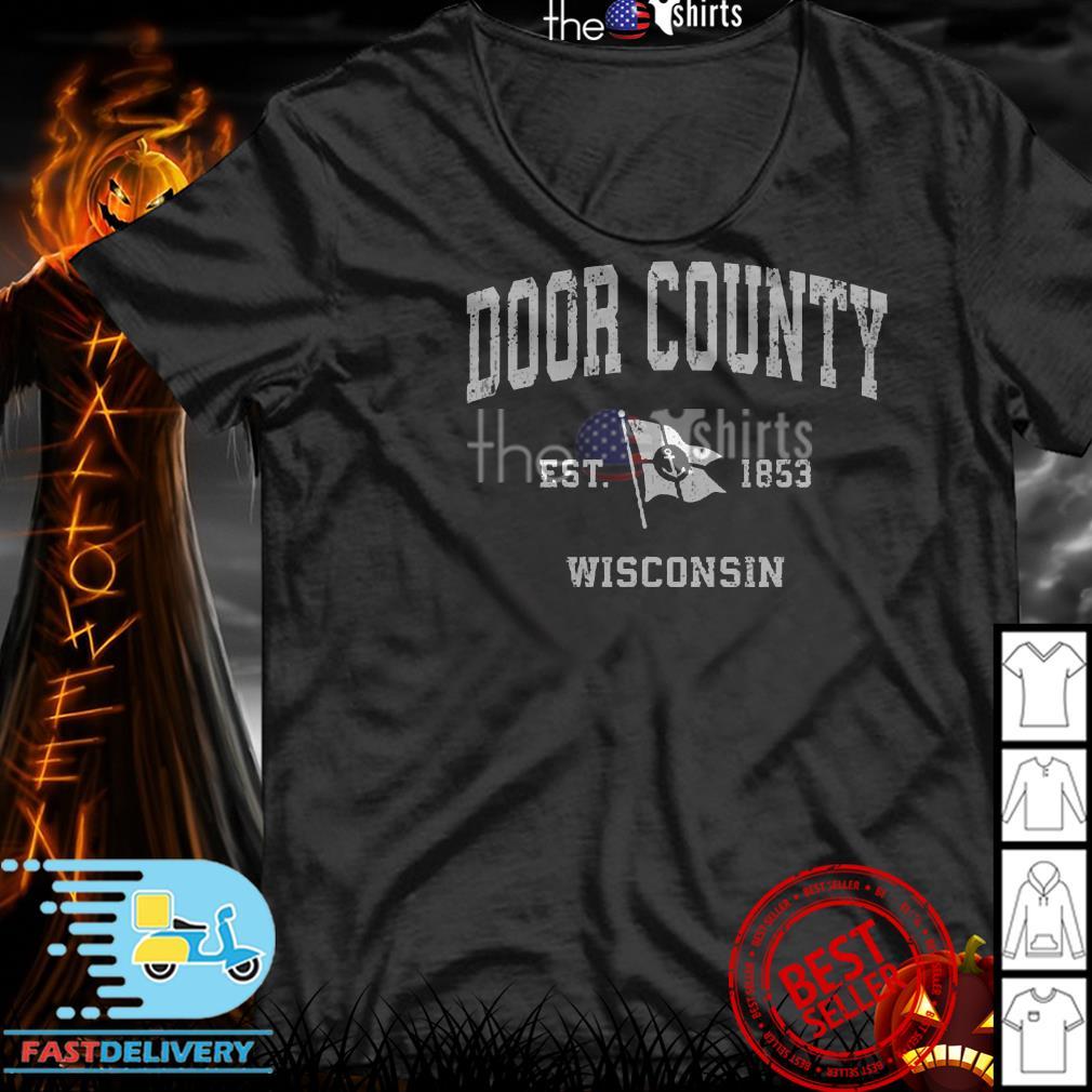 Door County Est 1853 Wisconsin Sailboat shirt