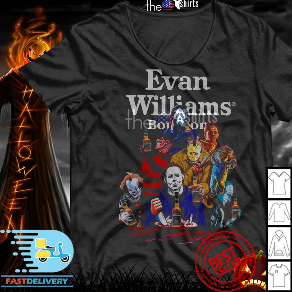 Evan Williams Bourbon horror characters movie shirt
