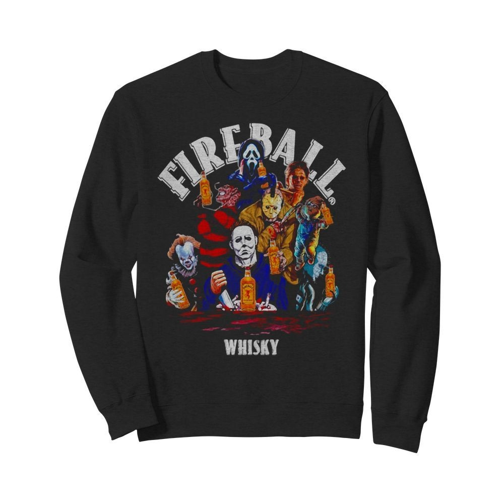 Fireball whisky horror characters movie Sweater