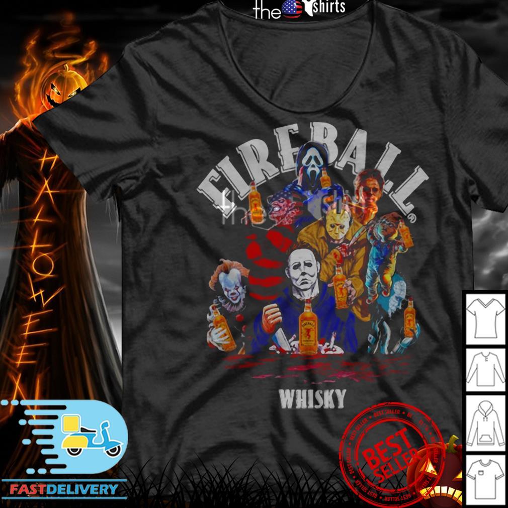 Fireball whisky horror characters movie shirt