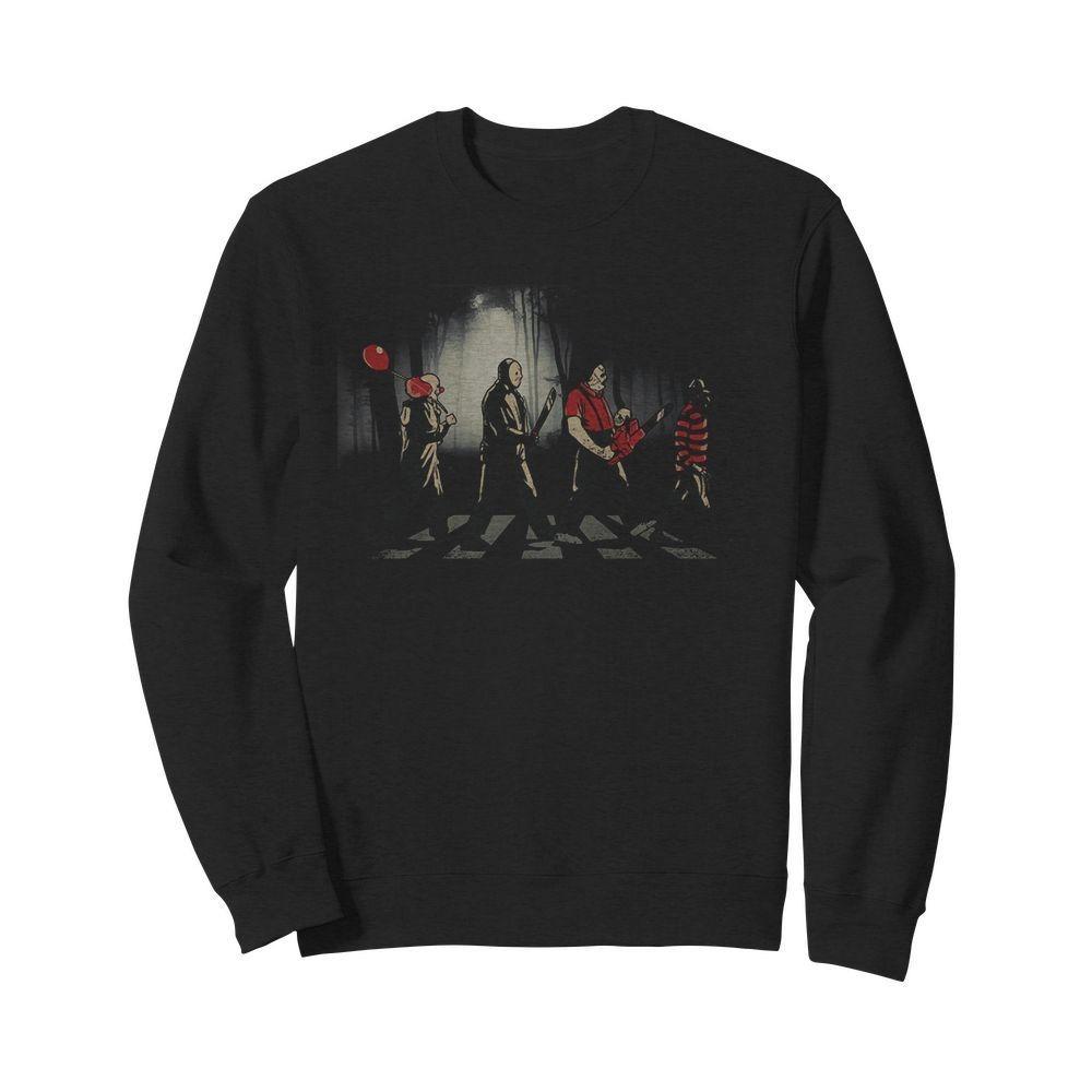 Freddy Krueger Michael Myers Jason Voorhees Abbey Road Sweater
