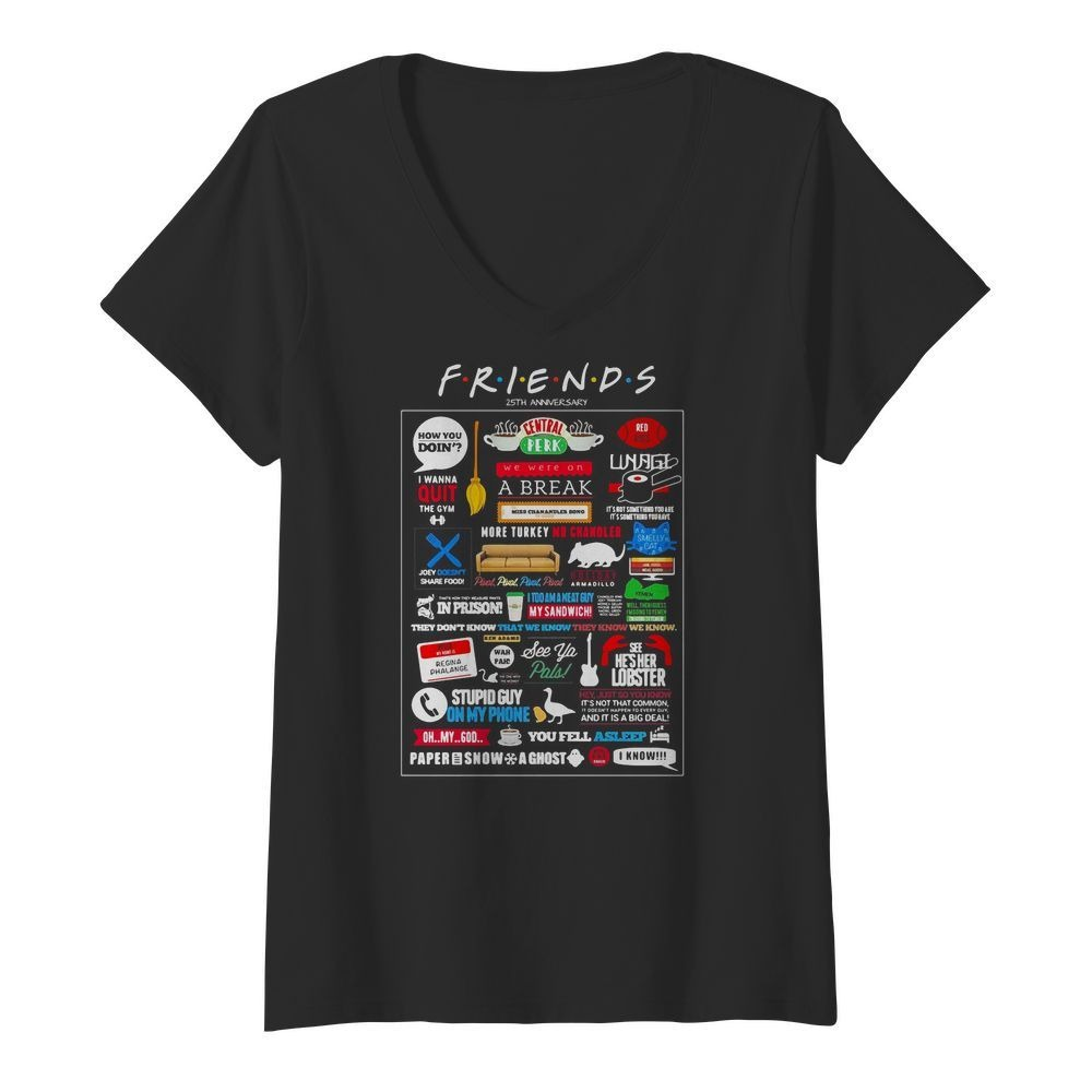 Friends TV Show Merchandise V-neck T-shirt