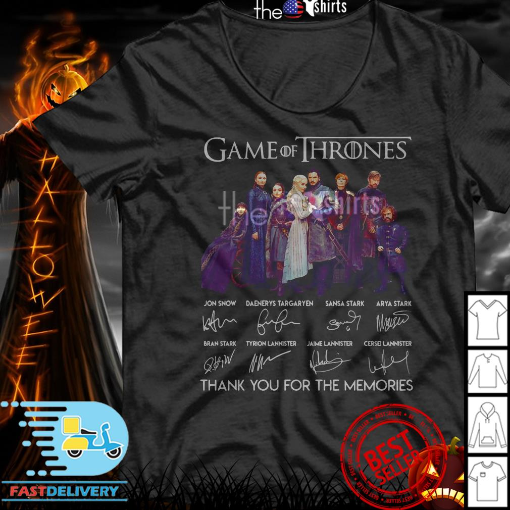 Game of Thrones signatures thank you for the memories shirt