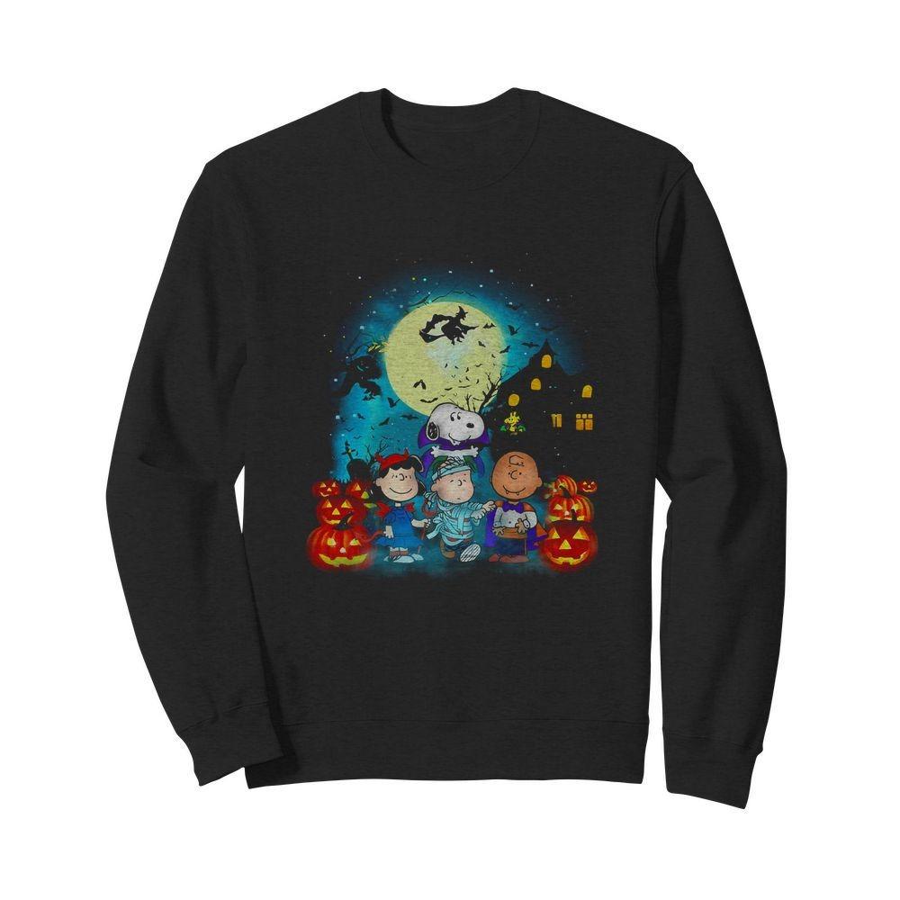 Halloween The Peanuts Movie characters shirt