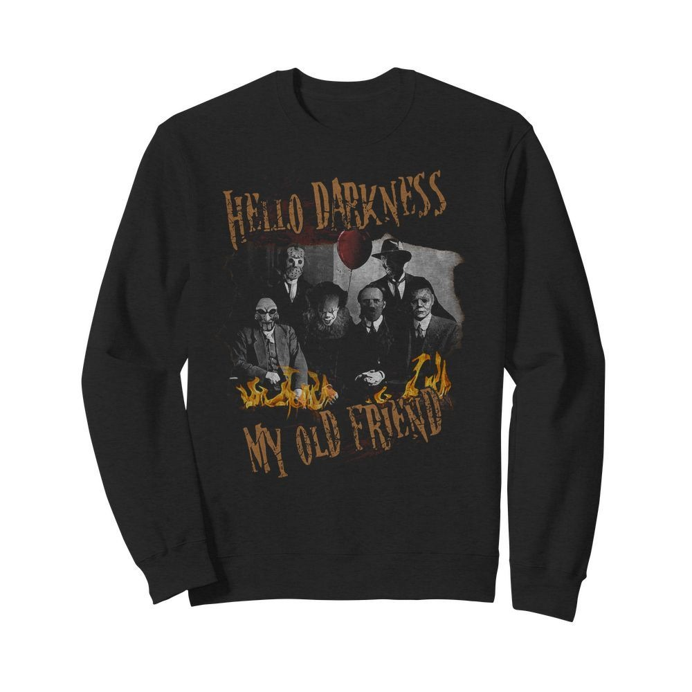 Hello darkness my old friend horror characters movies Sweater