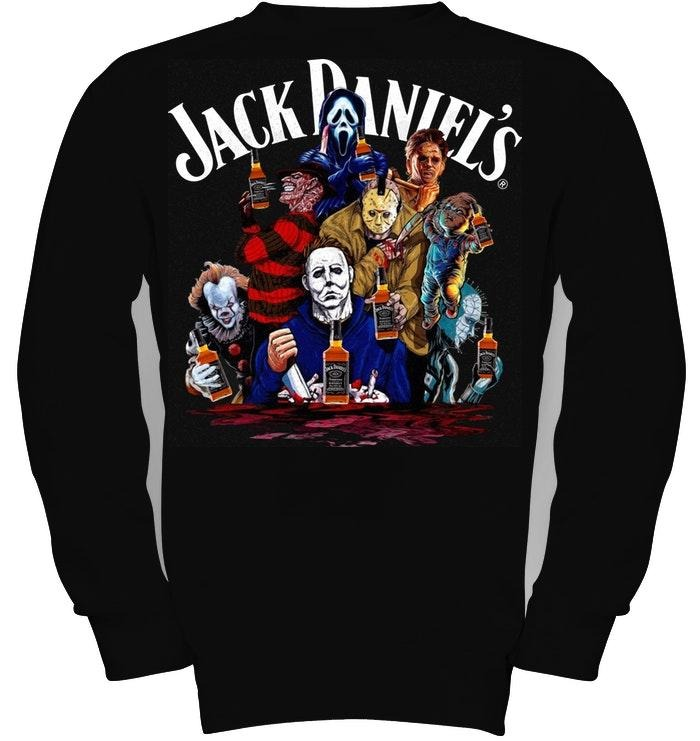 Horror characters movie Jack Daniel's Sweater