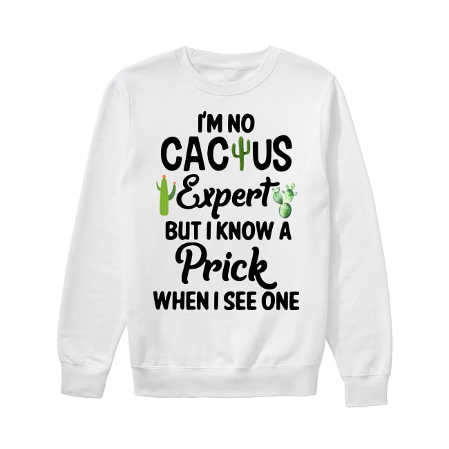 I'm no cactus expert but I know a prick when I see one Sweater