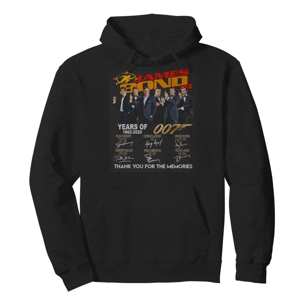 Jame Bond Years of 007 1962-2020 thank you for the memories Hoodie