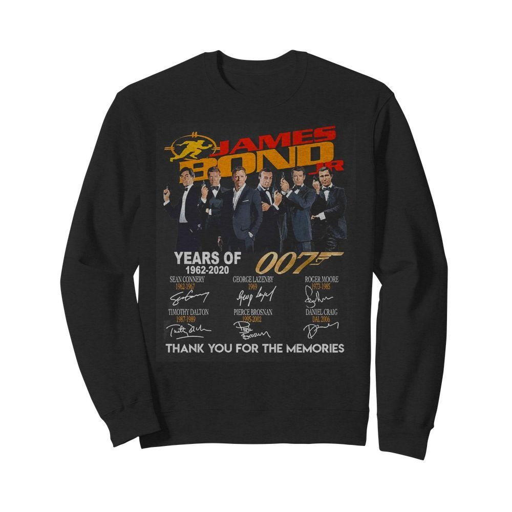 Jame Bond Years of 007 1962-2020 thank you for the memories Sweater