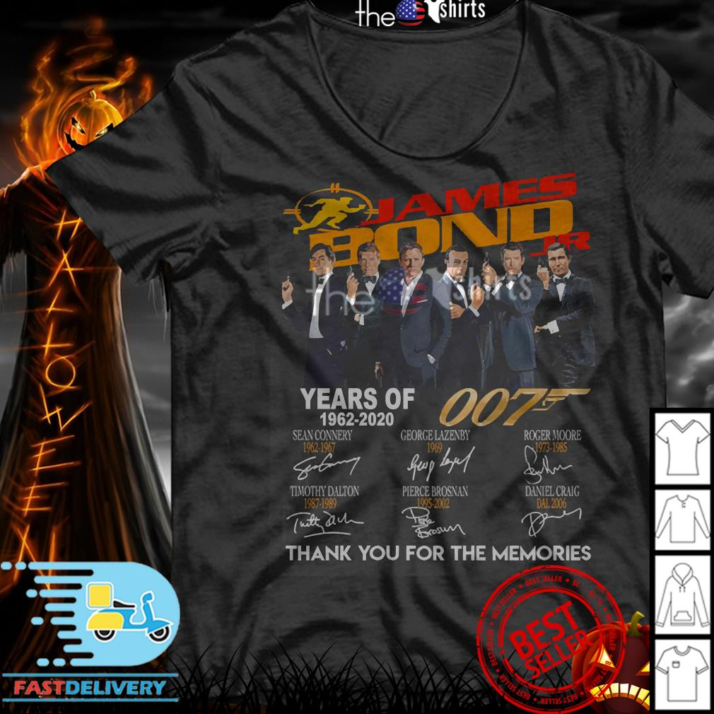 Jame Bond Years of 007 1962-2020 thank you for the memories shirt