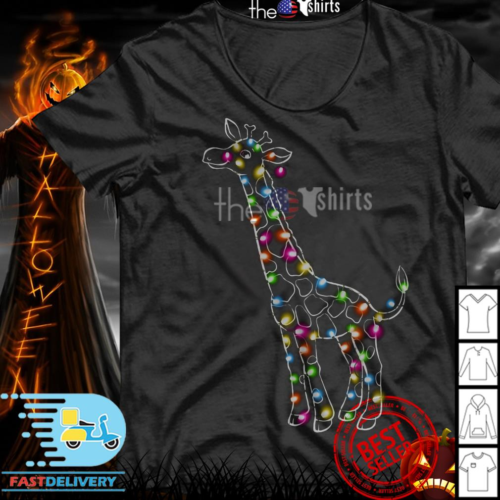 Light Giraffa Christmas shirt