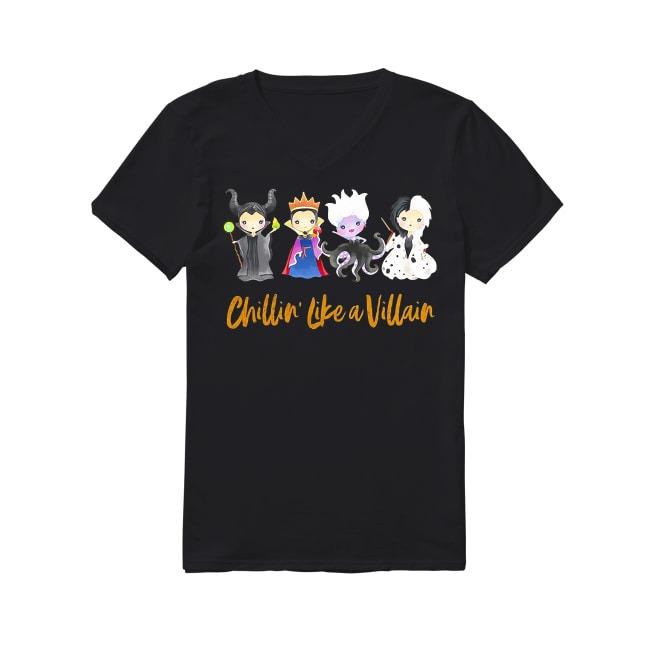 Maleficent Chillin' like a Villain Disney Halloween V-neck T-shirt