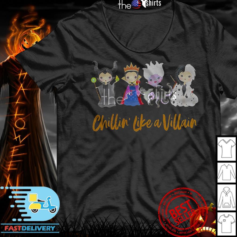 Maleficent Chillin' like a Villain Disney Halloween shirt