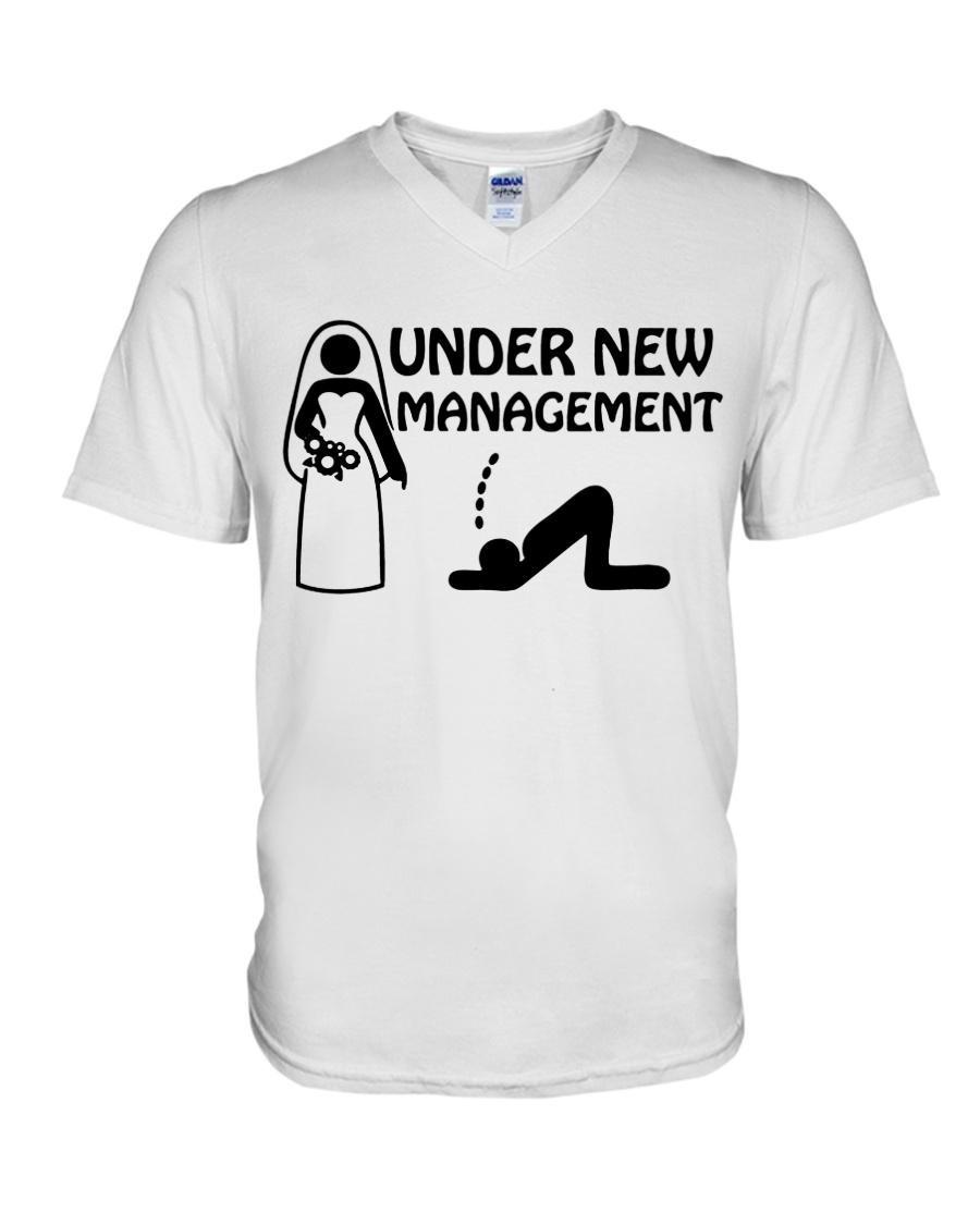 Married under new management V-neck T-shirt