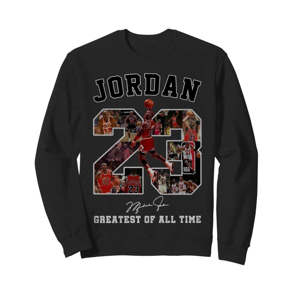 Michael Jordan 23 signature greatest of all time Sweater