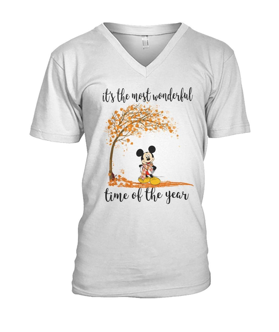 Mickey Mouse it's the most wonderful time of year V-neck T-shirt