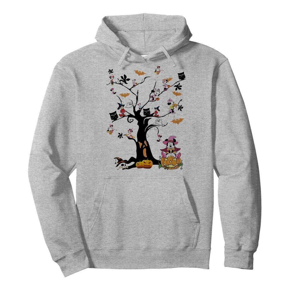 Mickey Mouse tree Halloween Hoodie