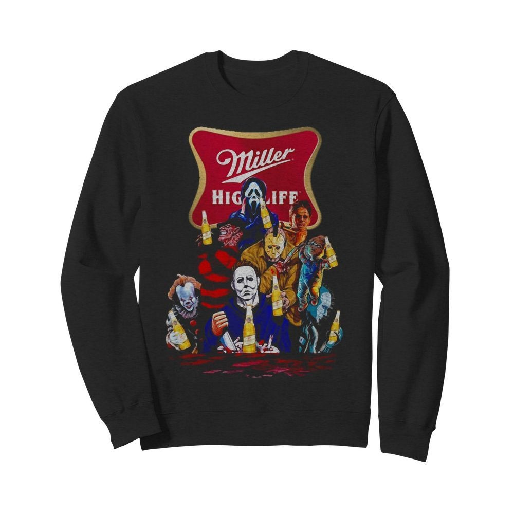 Miller High Life horror characters movie Sweater