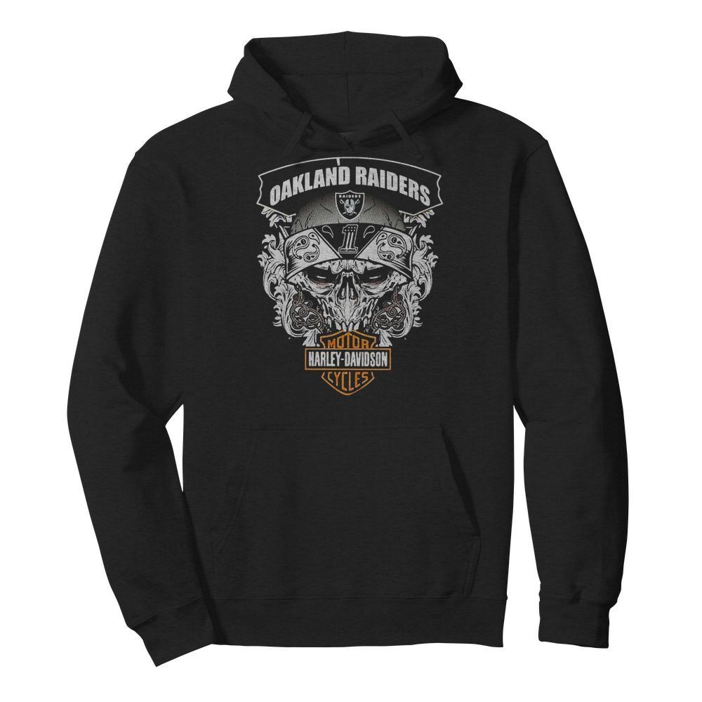 Oakland Raiders Football and Motorcycles Harley-Davidson Hoodie