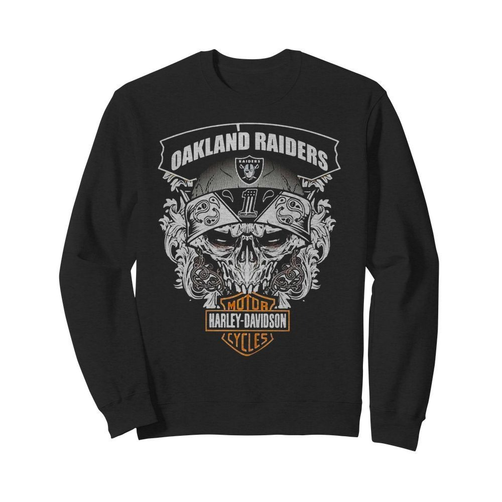 Oakland Raiders Football and Motorcycles Harley-Davidson Sweater