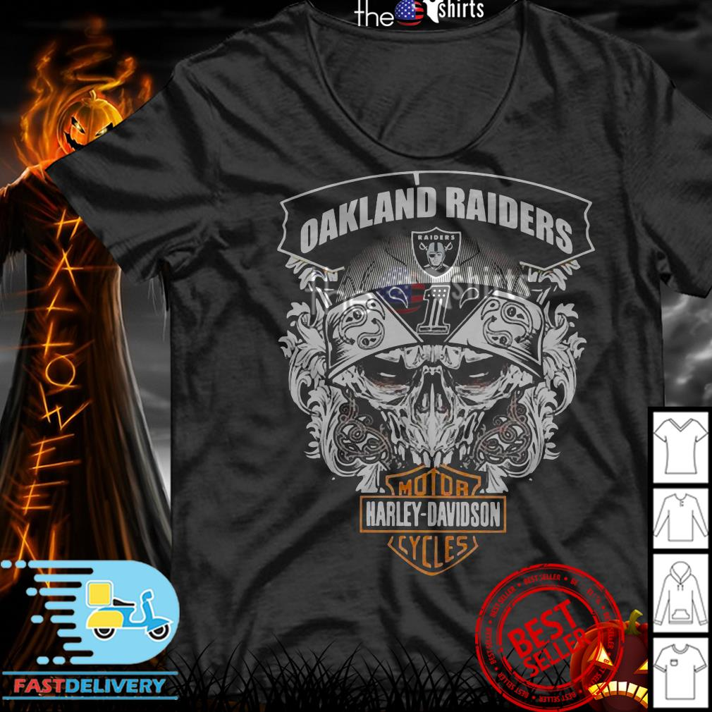 Oakland Raiders Football and Motorcycles Harley-Davidson shirt