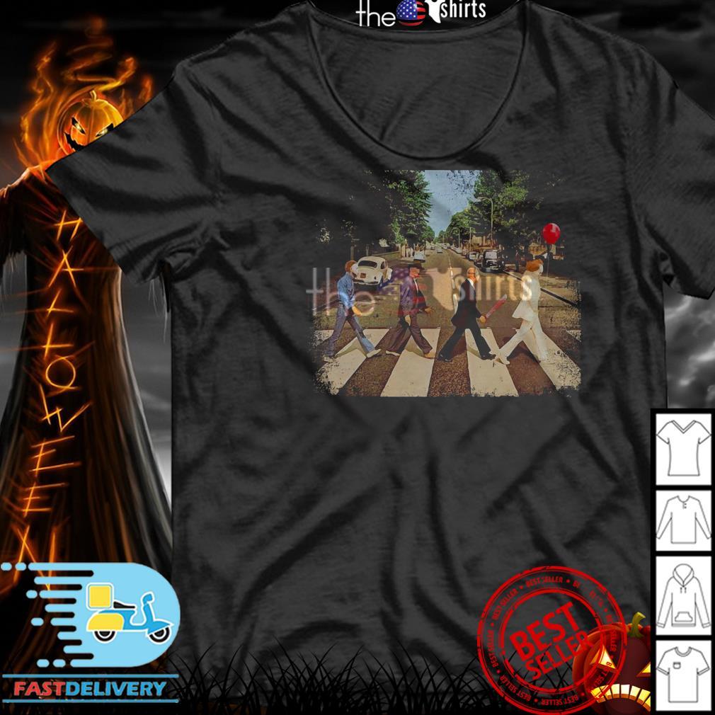 Official Freddy Krueger Michael Myers Jason Voorhees Abbey Road shirt