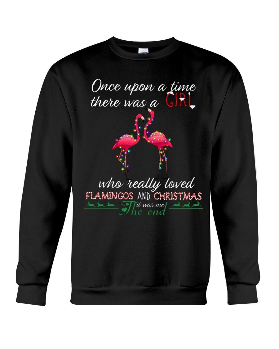 Once upon a time there was a girl who really loved Flamingos and Christmas Sweater