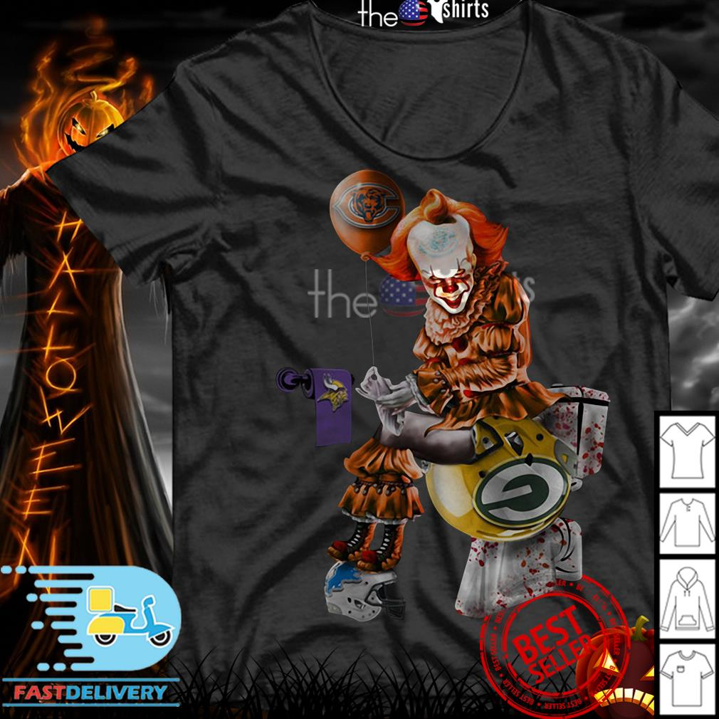 Pennywise Chicago Bears Minnesota Vikings and Green Bay Packers toilet shirt